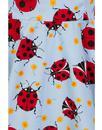 Lila HELL BUNNY Retro 60s Ladybird Mod Mini Dress