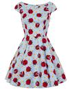 Hell Bunny Retro 60s Mod Mini Dress Ladybirds