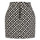 Hell Bunny Polkaface Retro Mod 60s Mini Skirt