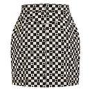 HELL BUNNY Pokerface Retro 60s Mod Mini Skirt