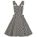 Hell Bunny Polkaface Retro 60s Pinafore Mini Dress