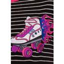 Rollerskates HELL BUNNY Retro 50s Striped T-Shirt