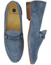 Renzo H by Hudson Retro Handcrafted Suede Loafers