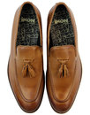 Kent IKON Retro Mod Slip On Tassel Loafers TAN