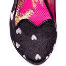 Agapi IRREGULAR CHOICE Slingback Heart Heels Black