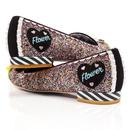 Bashful Skunk IRREGULAR CHOICE BAMBI Flower Shoes
