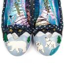 Binksy Bear IRREGULAR CHOICE Retro Snow Scene Flat