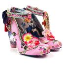 Irregular Choice Blossom Bunny Retro Chinese Heel Shoes Pink