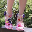 Blossom Bunny IRREGULAR CHOICE Silk Floral Heels P