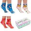 Irregular Choice Christmas Socks Giftset Penguins Gingerbread
