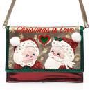 Irregular Choice Christmas is Love Santa Clauses Bag