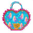 Irregular Choice Cross My heart Retro Robot Print Handbag in Blue