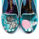 Fuzzy Peg IRREGULAR CHOICE Kitty Shoes in Blue