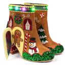 Irregular Choice Christmas Gingerbread House Boots