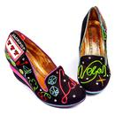 Las Vagas IRREGULAR CHOICE Retro Neon Lights Wedge