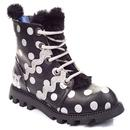 irregular choice lexie retro polka dot bootys black