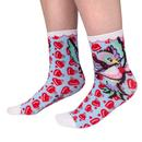 Irregular choice love bird vintage ankle socks pink red