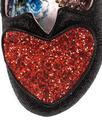 Love Me Not IRREGULAR CHOICE Heart Heels in Black