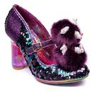 Irregular Choice Luce Mia Easter Bunny Heels in Purple