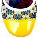 Mini Mod IRREGULAR CHOICE Floral 60s Heels YELLOW