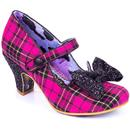Irregular Choice Piccolo Pink Check Party Heels