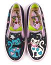Pretty Kitty IRREGULAR CHOICE Retro Cat Trainers