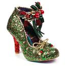 Irregular Choice Princess Promise Christmas Party Shoes Green