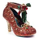 Irregular Choice Princess Promise Christmas Party Shoes Red