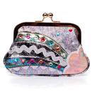Irregular Choice Rainbow Splash Purse in Black