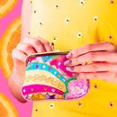 Rainbow Splash IRREGULAR CHOICE Retro Purse Pink