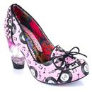 Irregular Choice Rocko 1950s Vintage Vinyl Records Rock N Roll Heels in Pink