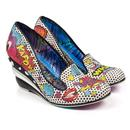 Wow Pow IRREGULAR CHOICE Pop Art Comic Wedges B