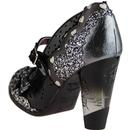 Shoependous IRREGULAR CHOICE Patent Bow Heels Blk