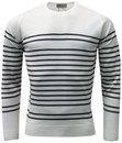john smedley totnes retro 1960s mod stripe jumper