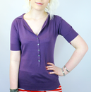 JOHN SMEDLEY WOMENS BRITNEY TOP TAYBERRY RETRO