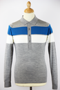 1010MSIG JOHN SMEDLEY 60s Mod Striped Polo Shirt S