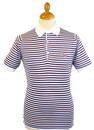 Motson JOHN SMEDLEY Retro Stripe Mod Slim Polo W