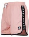 kappa mens 70s agius retro taped swim shorts pink
