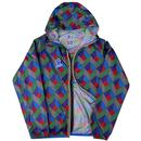 Claude K-WAY Men's Retro Graphic Zip Thru Jacket