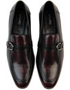 Lane LACUZZO 60s Mod Perf Two Tone Loafers CLARET