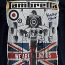 LAMBRETTA 'We Are The Mods' Scooter Print Tee NAVY