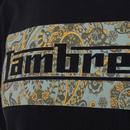LAMBRETTA 1960s Mod Paisley Logo T-Shirt In Navy