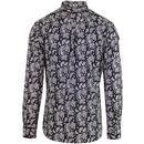 LAMBRETTA Sixties Mod All Over Paisley Shirt B/W