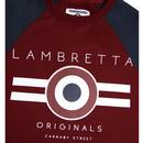 LAMBRETTA Men's Retro Mod Target Raglan Sweatshirt