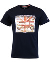 LAMBRETTA Retro Mod Scooter Diagram T-Shirt