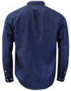 LEE Men's Retro Mod Button Down Rinse Denim Shirt