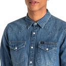 LEE Retro 70s Slim Fit Denim Western Shirt OB
