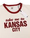 Kansas City LEE Retro 70s Vintage Ringer T-shirt