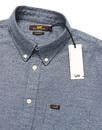 LEE Retro Mod Herringbone Marl Button Down Shirt