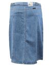 LEE Retro 70s Button Through Denim Midi Skirt (W)